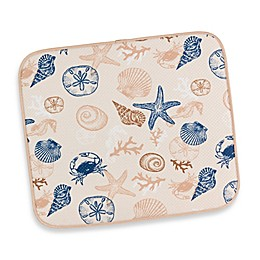 Seashells Dish Drying Mat