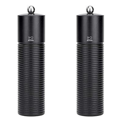 Peugeot Esterel Natural Wood Salt and Pepper Shakers in Black