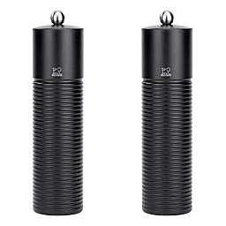 Peugeot Esterel Natural Wood Salt and Pepper Shakers in Black