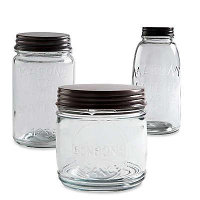 Copper Lid Glass Mason Jar Canister
