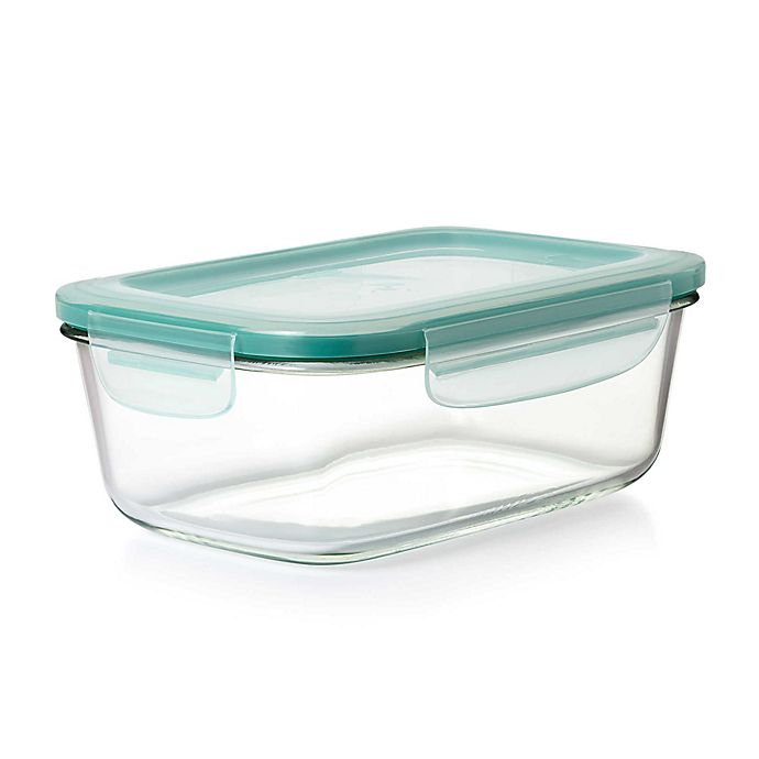 Alternate image 1 for OXO Good Grips® Smart Seal Rectangle Glass Snap Container