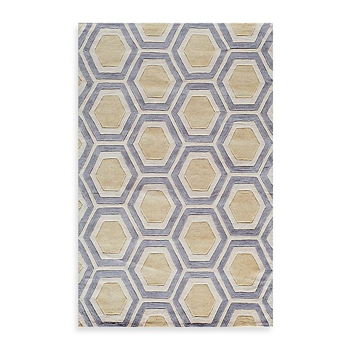Alternate image 1 for Rugs America Jourdan Crescent 8-Foot x 10-Foot Area Rug in Gold