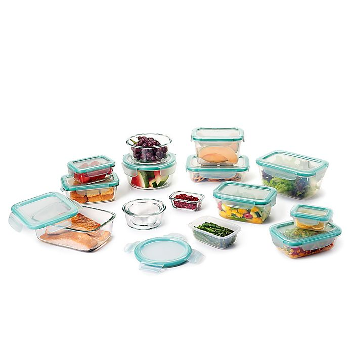 Alternate image 1 for OXO Good Grips®  30-Piece SNAP™ Glass/Plastic Food Storage Container Set