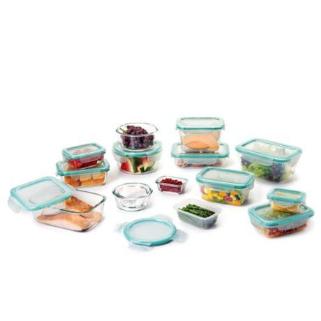 Oxo Good Grips 174 30 Piece Snap Glass Plastic Food Storage