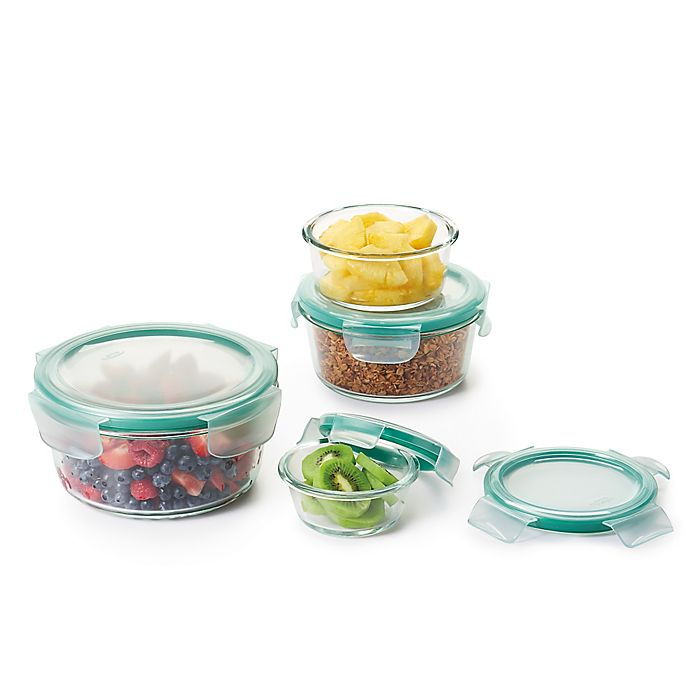 Alternate image 1 for OXO Good Grips® Smart Seal Glass Round Food Storage Set