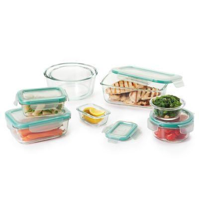 Oxo Good Grips 16 Piece Glass Food Storage Set Bed Bath