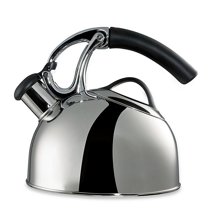 Alternate image 1 for OXO Good Grips® Uplift™ 2 qt. Polished Stainless Steel Tea Kettle