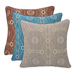 Arlee Home Fashions® Heston Chenille Medallion Square Throw Pillow (Set of 2)