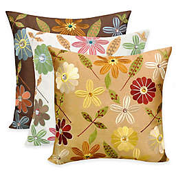 Arlee Home Fashions® Milena Embroidered Jewel Square Throw Pillow (Set of 2)