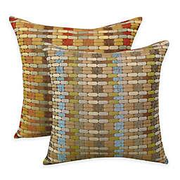 Arlee Home Fashions® Othello Jacquard Geometric Square Throw Pillow (Set of 2)