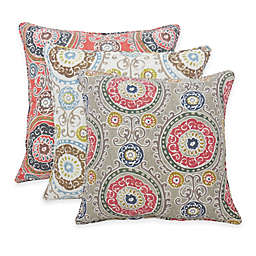 Arlee Home Fashions® Tamariz Printed Medallion Square Throw Pillow (Set of 2)