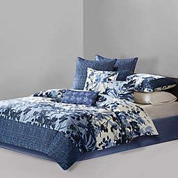 N Natori® Yumi Botanical Comforter Set in Blue