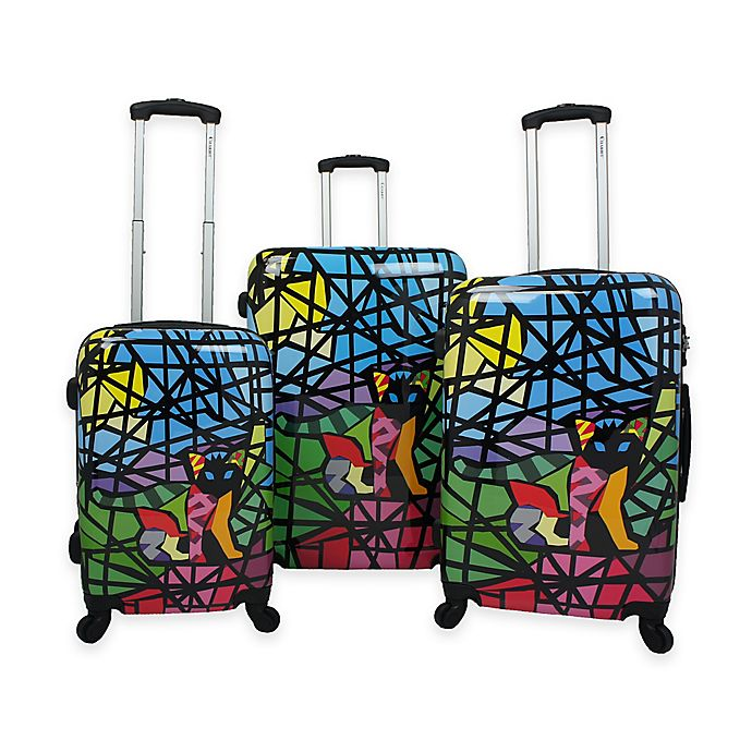 88403cfb9739 Chariot 3-Piece Luggage Set in Glass | Bed Bath & Beyond