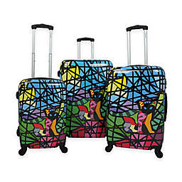 Chariot 3-Piece Luggage Set in Glass
