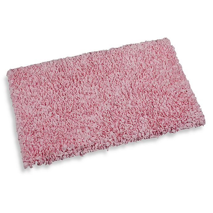 Pink Shaggy Raggy Accent Rug