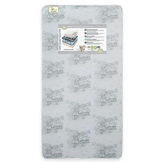 Alternate image 1 for Serta® Perfect Balance™ Deluxe Firm  Crib and Toddler Mattress in Grey