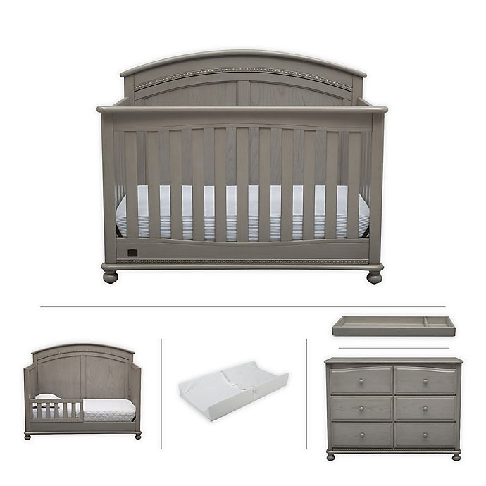 Alternate image 1 for Simmons Kids Ainsworth 5-Piece Nursery Furniture Set in Storm by Delta Children