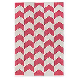 Fab Habitat Metropolitan Arrows 2-Foot x 3-Foot Accent Rug in Pink/White