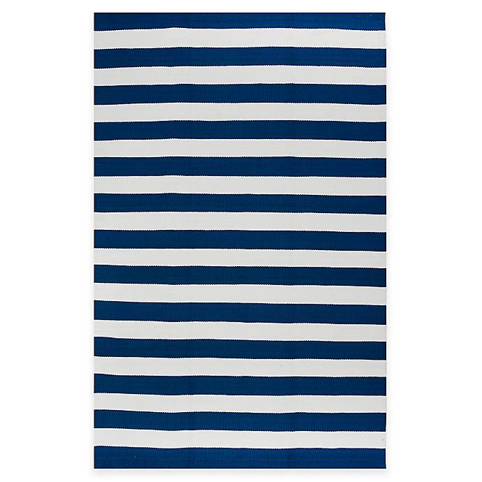 Alternate image 1 for Fab Habitat Nantucket Stripe 4-Foot x 6-Foot Indoor/Outdoor Area Rug in Blue & White
