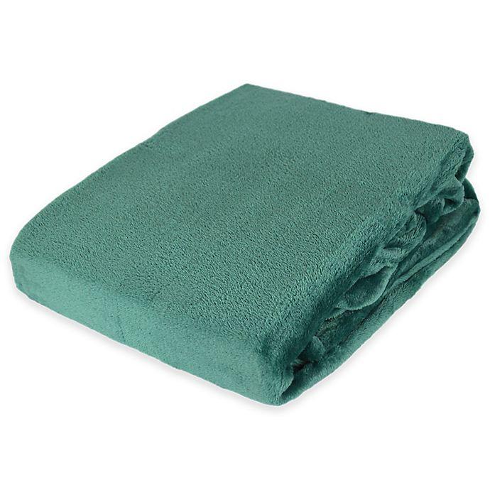 Alternate image 1 for Plush Velvet Throw Blanket  in Teal