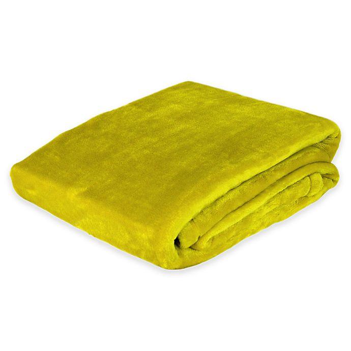Alternate image 1 for Plush Velvet Throw Blanket in Neon