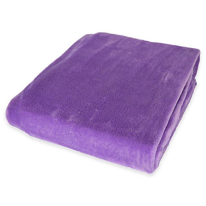 Alternate image 1 for Plush Velvet Throw Blanket in Purple