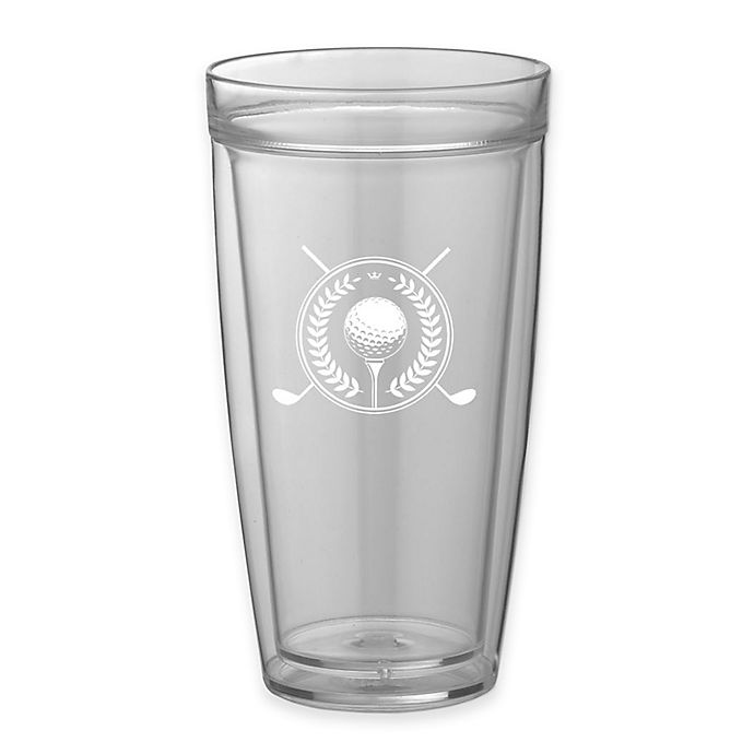Alternate image 1 for Kraftware™ Kasualware Golf Double-Wall Tall Drink Glasses (Set of 4)