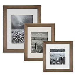 Real Simple® Wood Portrait Frame in Natural with Off-White Double Mat