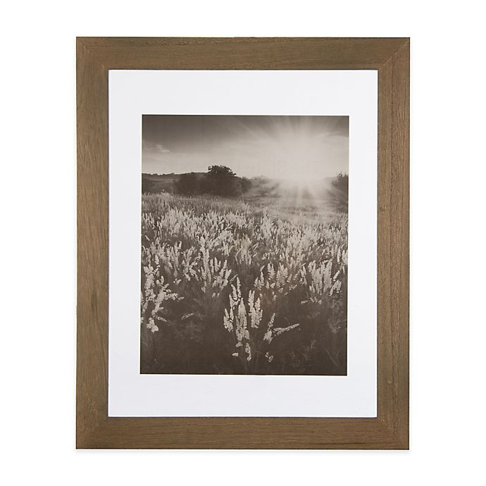 Alternate image 1 for Real Simple® 13-Inch x 13-Inch Wood Portrait Frame in Natural with Off-White Double Mat