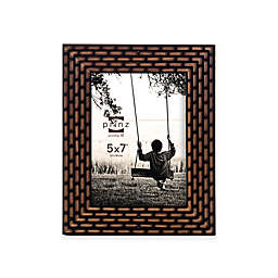 Prinz Artisan 5-Inch x 7-Inch Laser Diecut Wood Frame in Walnut/Black