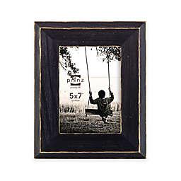 Prinz Artisan 5-Inch x 7-Inch Rustic Frame in Blackwash/Gold