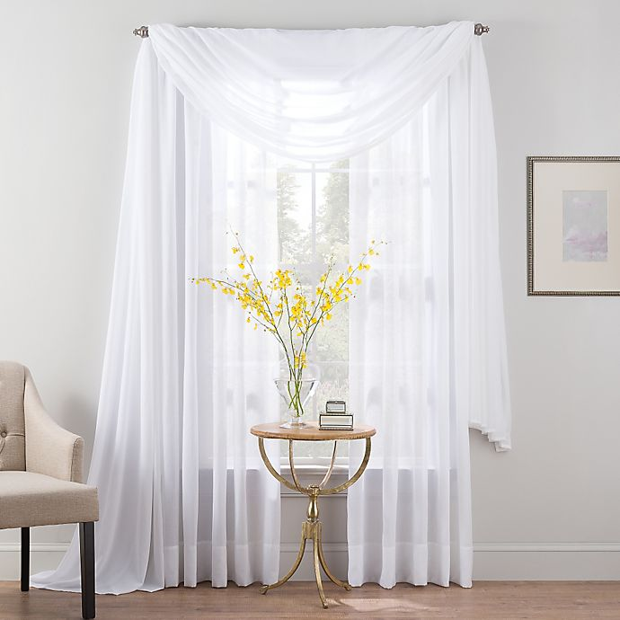 Alternate image 1 for Smart Sheer™ Insulated Linen Voile Sheer Window Curtain Panel and Valance