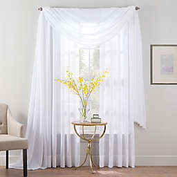 Smart Sheer™ Insulated Linen Voile Sheer Window Curtain Panel and Valance