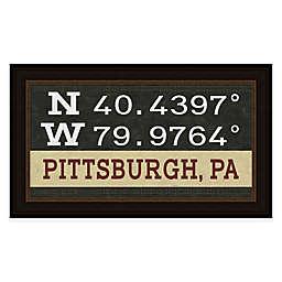 Pittsburgh, Pennsylvania Coordinates Framed Wall Art