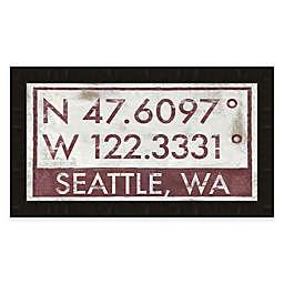 Seattle Coordinates 16-Inch x 28-Inch Framed Giclée Print