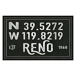 Reno Coordinates 16-Inch x 28-Inch Framed Wall Art