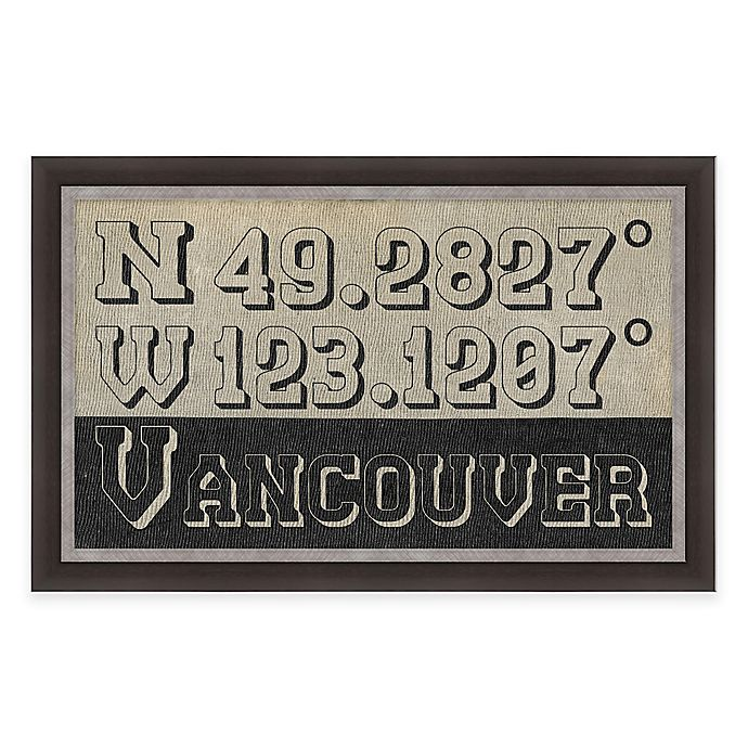 Alternate image 1 for Framed Giclée Vancouver Coordinates Print Wall Art