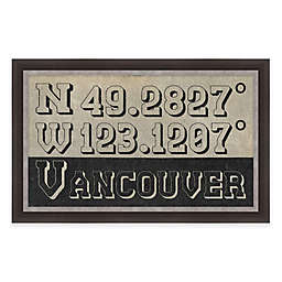 Framed Giclée Vancouver Coordinates Print Wall Art