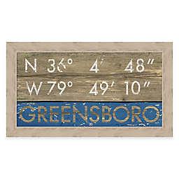 Greensboro Coordinates 16-Inch x 28-Inch Framed Giclée Print