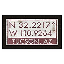 Tuscon, Arizona Coordinates 16-Inch x 28-Inch Framed Wall Art