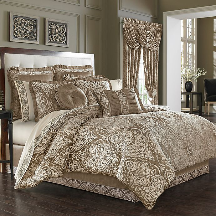 j queen new york™ stafford comforter set in mocha  bed