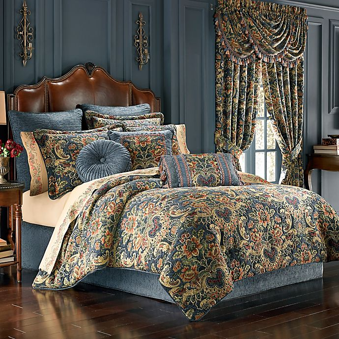J Queen New York Cassandra Comforter Set In Blue Bed Bath Beyond