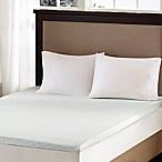 Sleep Philosophy Flexapedic 2-Inch Memory Foam Queen Mattress Topper in White