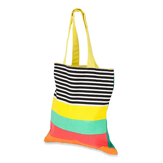 Alternate image 1 for Sunnylife® Avalon Striped Cotton Canvas Tote Bag