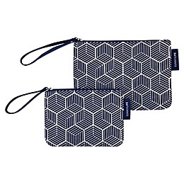Sunnylife® Lennox Beach Pouches in Navy (Set of 2)