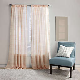 Dawn Stripe Rod Pocket Sheer Window Curtain Panel