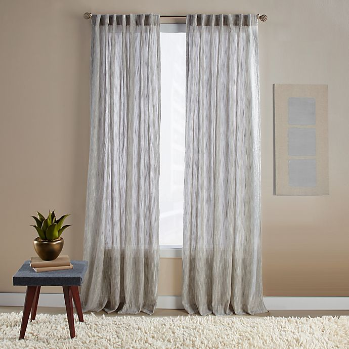Alternate image 1 for Aspire Ikat 84-Inch Rod Pocket/Back Tab Window Curtain Panel in Natural