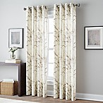 Botanical Print 63-Inch Grommet Top Window Curtain Panel in Spice