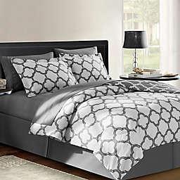 VCNY Galaxy 6-Piece Reversible Queen Comforter Set in Grey