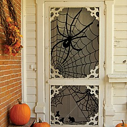 Heritage Lace® Tangled Web 84-Inch Indoor/Outdoor Curtain Panel in Black